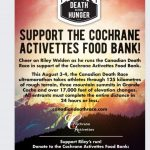 Death race donation to foodbank